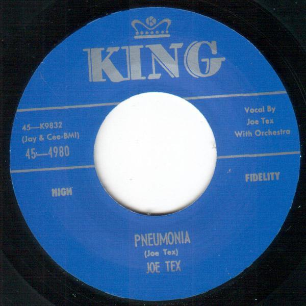 Joe Tex - Pneumonia / Davy, You Upset My Home - 7""