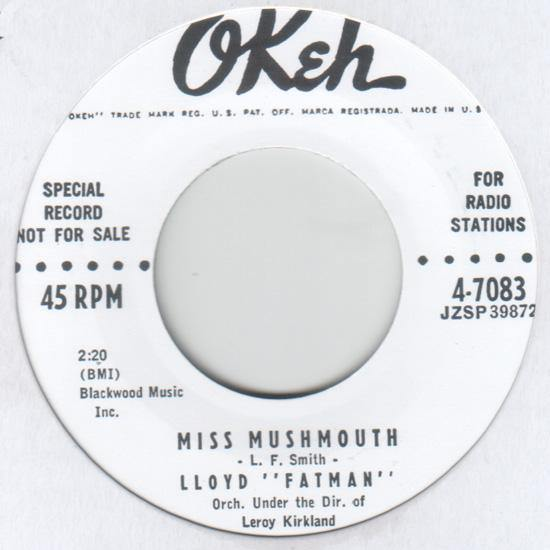 Lloyd Fatman - Miss Mushmouth // Good Gracious - 7""