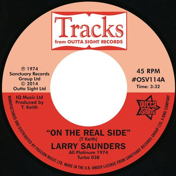 LARRY SAUNDERS - On The Real Side - 7inch