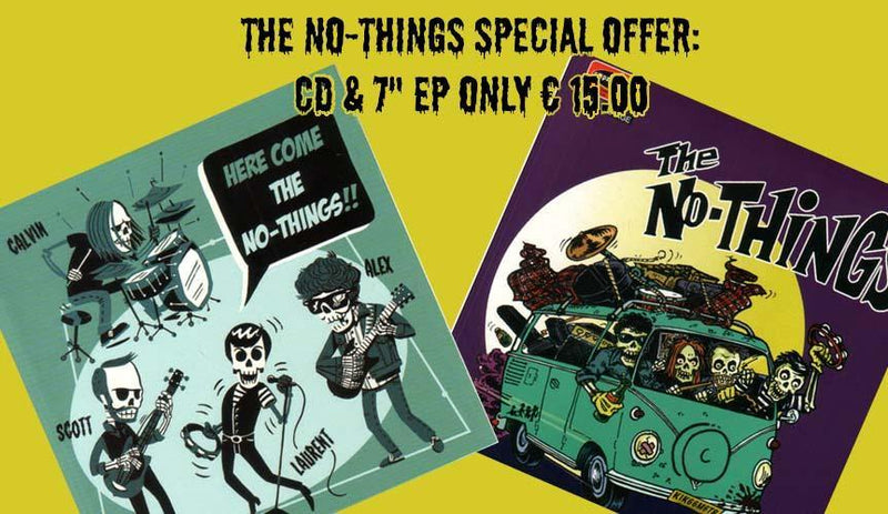 "SPECIAL OFFER : THE NO-THINGS 7"" EP + CD"