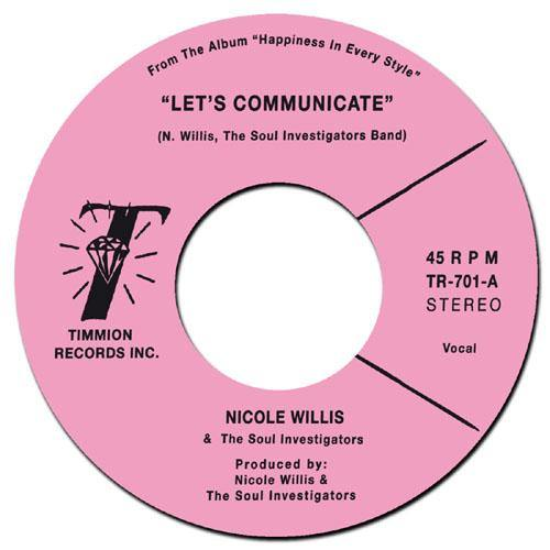 NICOLE WILLIS - Let's Communicate // Instrumental - 7inch