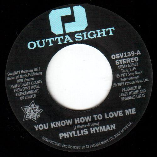 Phyllis Hyman - You Know How To Love Me // Under Your Spell  - 7""