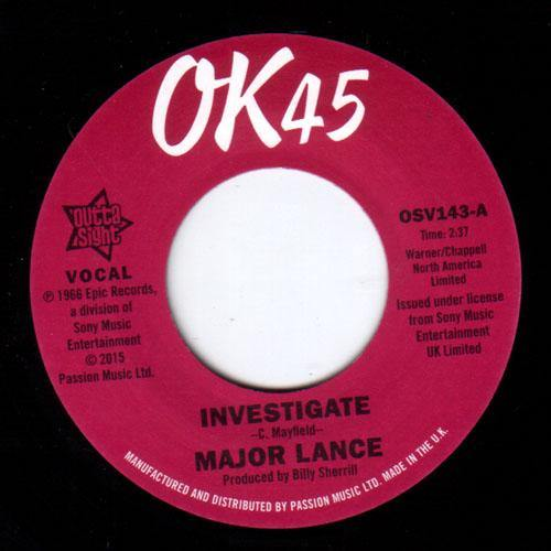Major Lance - Investigate // It's The Beat - 7""