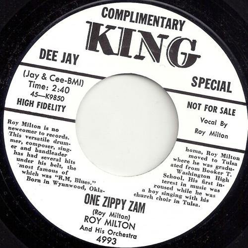 ROY MILTON – ONE ZIPPY ZAM // YOU'RE GONNA SUFFER BABY - 7""