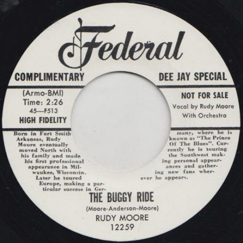RUDY MOORE - BUGGY RIDE / RING A-LING DONG - 7""