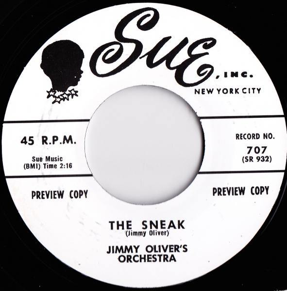 Jimmy Oliver's Orchestra - The Sneak // Sonny Jackson - My Babe - 7""