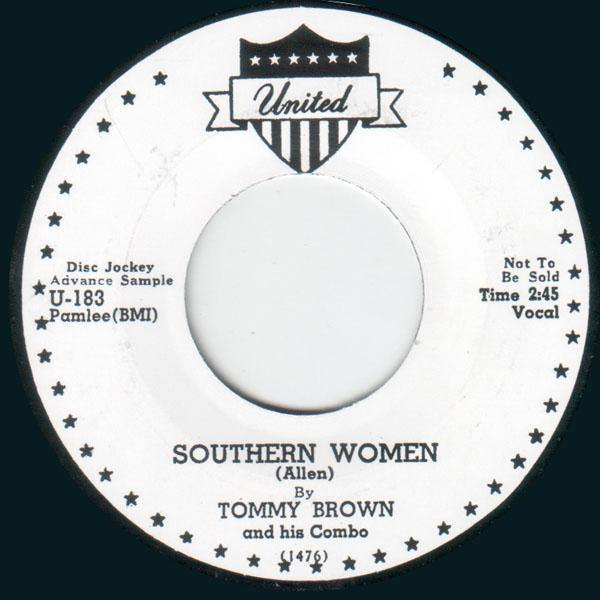 Tommy Brown - Southern Women // Big Walter - Back Home To Mama - 7""