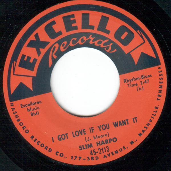 Slim Harpo - I Got Love If You Want It  // I'm A King Bee  - 7""