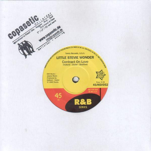 Little Stevie Wonder - Contract On Love // Bob Kayli - Tie Me Tight - 7""