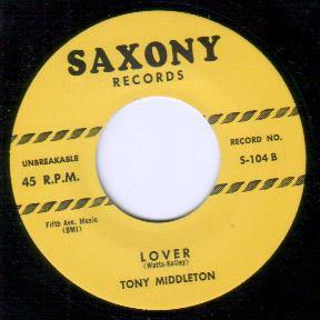 Tony Middleton - Lover // Louis Payne Orch. - That's Alright With Me - 7""