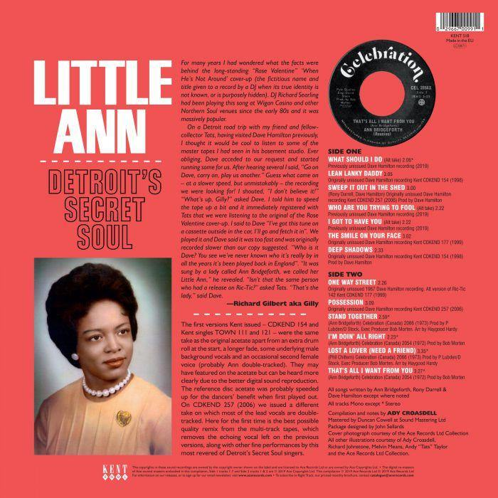 Little Ann - Detroit's Secret Soul - LP - Soul