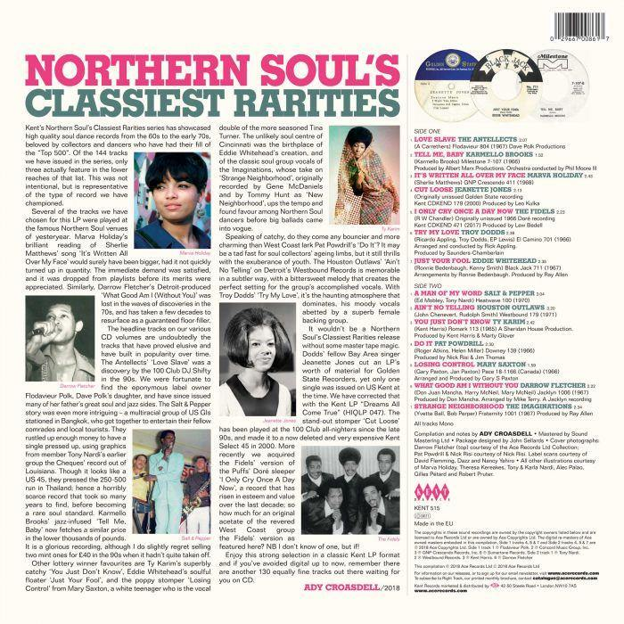Various - Northern Soul's Classiest Rarities - LP compilation