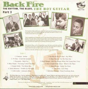 V.A - Back Fire - LP RHYTHM'n'BLUES comp. backsleeve