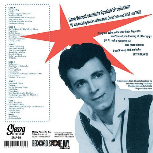 backsleeve: Gene Vincent - complete Spanish EP collection - 3x LP