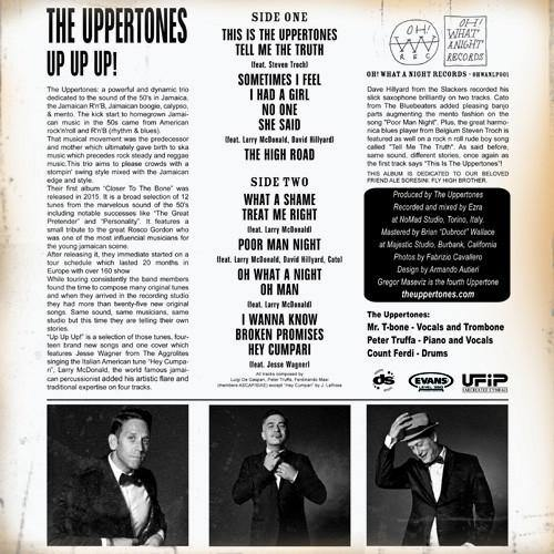 THE UPPERTONES - Up Up Up! - LP backsleeve