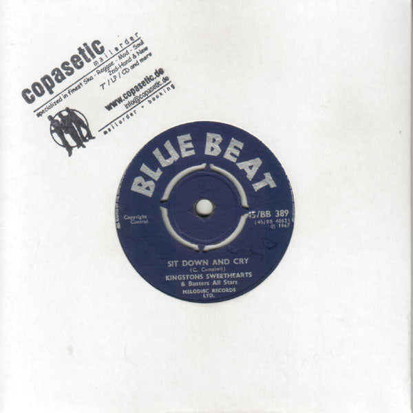 Kingstons Sweethearts - Sit Down And Cry // Prince Buster - Tribute To The Toughest (EX//VG+)  - 7""