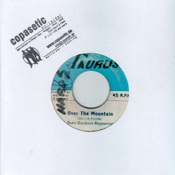 James & Patrick with Boris Gardener Happening - Over The Mountain // Version (VG/VG) - 7""