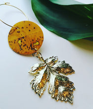 Load image into Gallery viewer, Large Autumn Leaf Statement Earrings