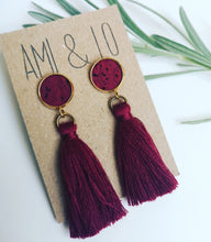 Load image into Gallery viewer, Stud Tassel Earrings