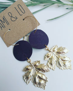 Large Autumn Leaf Statement Earrings