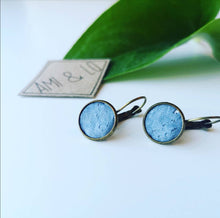 Load image into Gallery viewer, Cork leather drop stud earrings, Ami and Lo, Vegan earrings