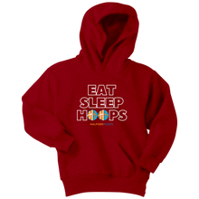 Load image into Gallery viewer, Eat Sleep Hoops Youth Hoodie