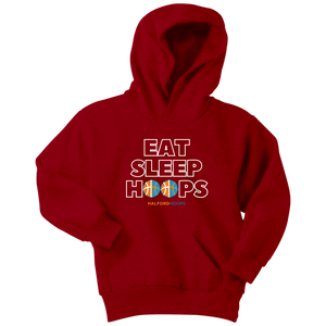 Eat Sleep Hoops Youth Hoodie