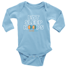 Load image into Gallery viewer, Eat Sleep Hoops Baby Bodysuit Long Sleeve