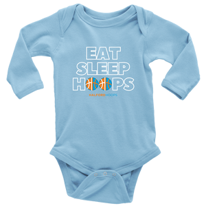 Eat Sleep Hoops Baby Bodysuit Long Sleeve