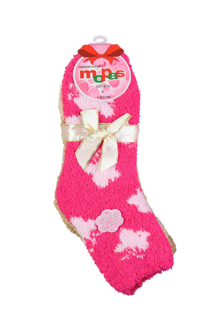MOPAS LADIES PLUSH SOFT SOCKS (30301_PATTERN2)