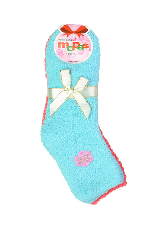 MOPAS LADIES PLUSH SOFT SOCKS (30301_PLAIN1)