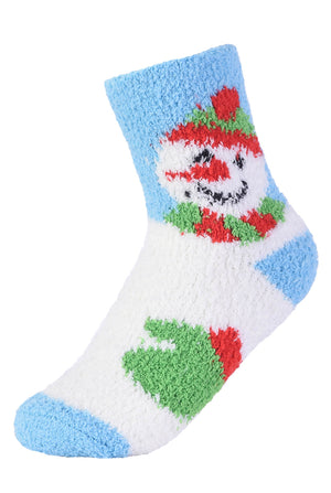 MOPAS LADIES PLUSH SOFT SOCKS (30301_XMAS)
