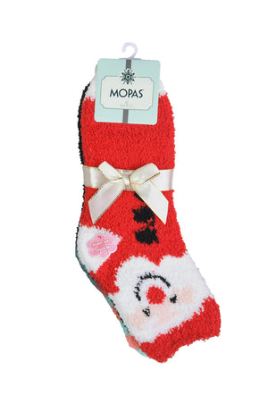 Load image into Gallery viewer, MOPAS LADIES PLUSH SOFT SOCKS (30301_XMAS)