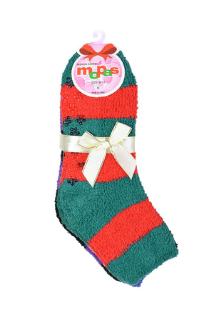Load image into Gallery viewer, MOPAS PLUSH SOFT SOCKS NON SKID (30302_STRIPE-A)
