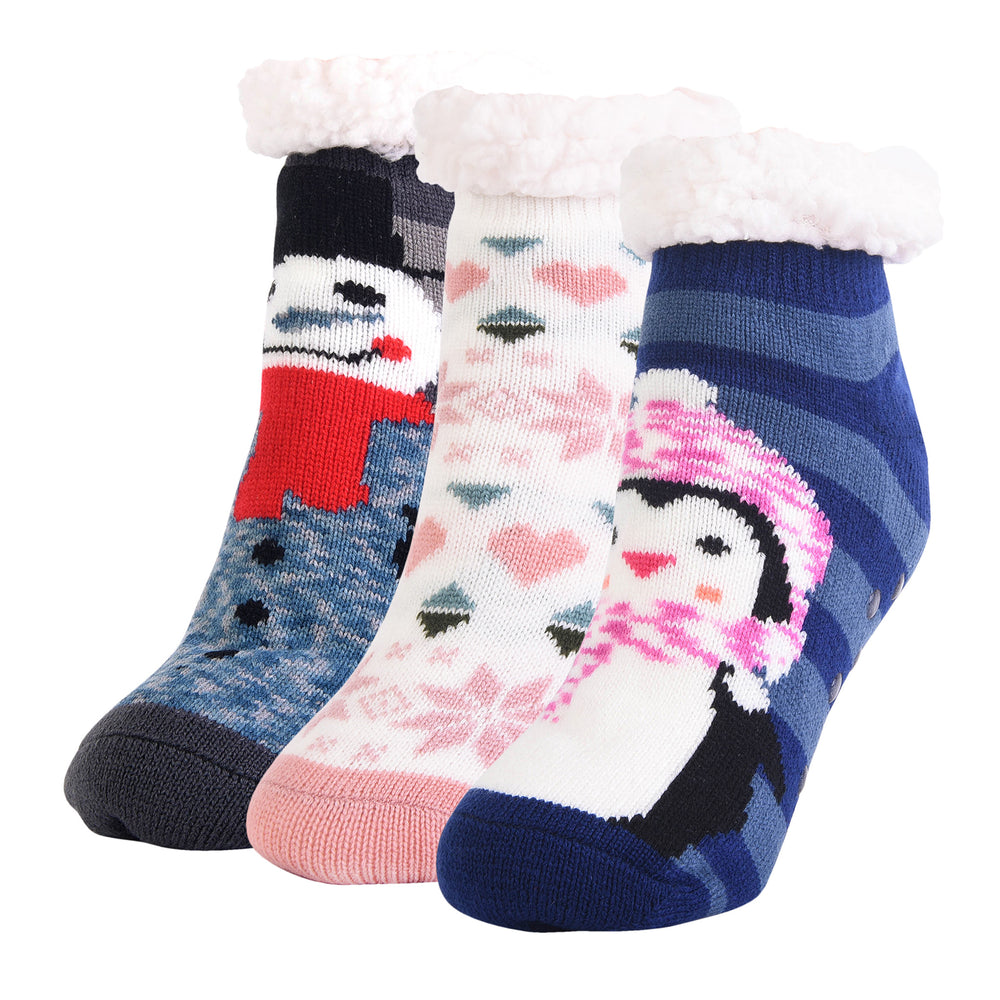 Load image into Gallery viewer, MOPAS COZY DUO LAYER SHORTIE CREW SOCKS (40303_ASST)