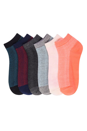 Load image into Gallery viewer, MAMIA SPANDEX SOCKS (ZIGZAG) - 9-11