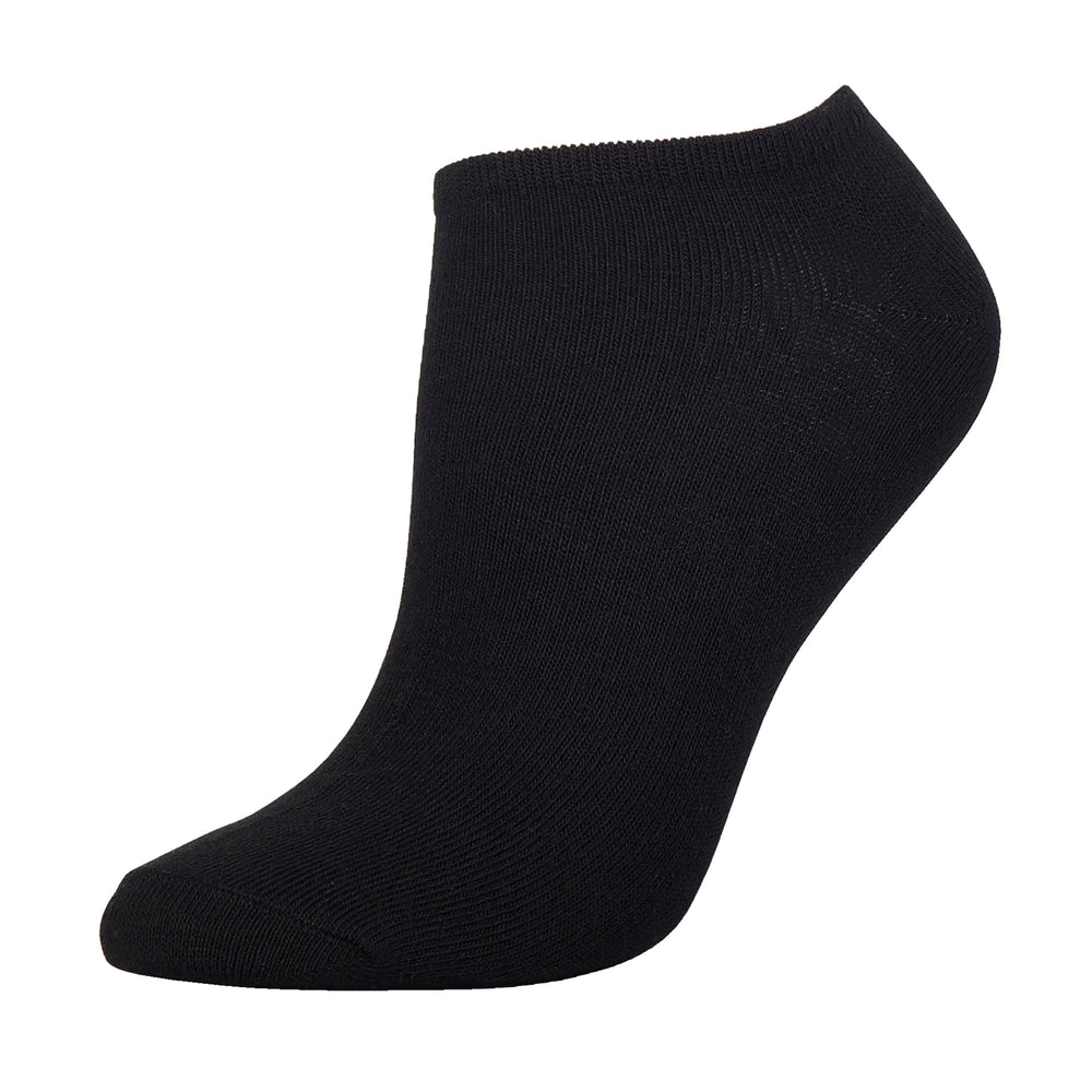 MAMIA NO SHOW PLAIN BLACK SOCKS (70033_BT-D)