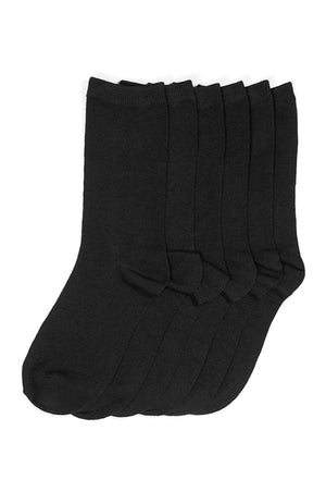 Load image into Gallery viewer, MAMIA LADIES PLAIN CREW SOCKS (BLACK)