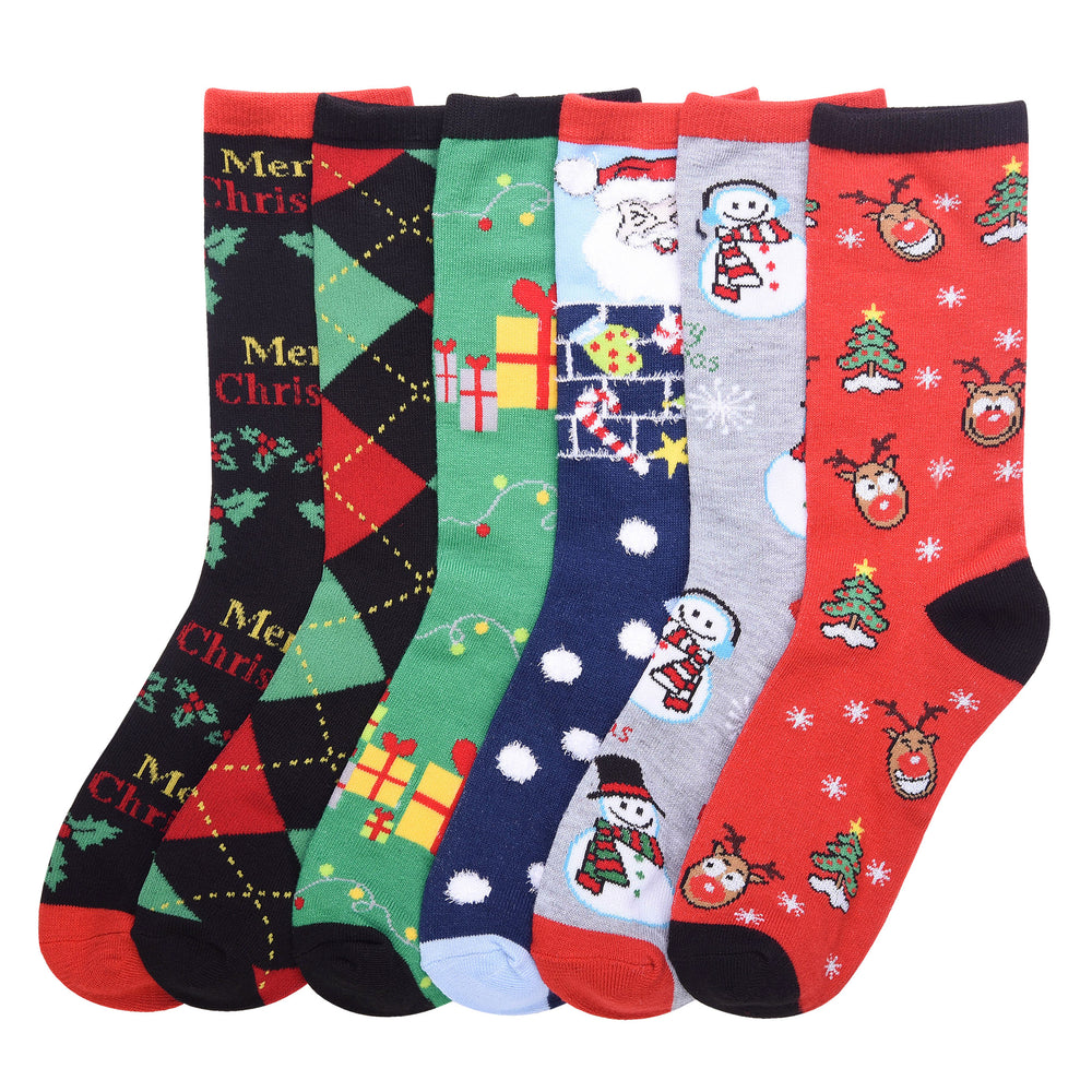 Load image into Gallery viewer, MAMIA LADIES DESIGN CREW SOCKS (X-MAS)