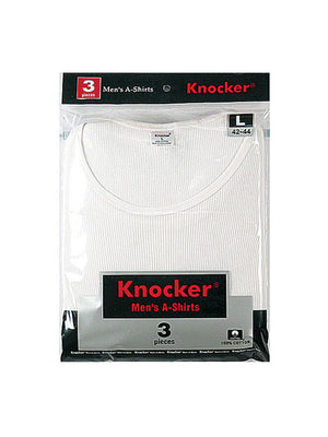 Load image into Gallery viewer, KNOCKER MEN'S WHITE A-SHIRTS (AKW001)
