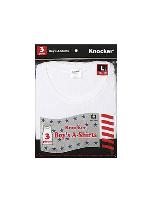 Load image into Gallery viewer, KNOCKER BOY'S WHITE A-SHIRTS (BA7500)