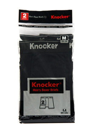 KNOCKER MEN'S COLOR BOXER BRIEFS (BBC3500)