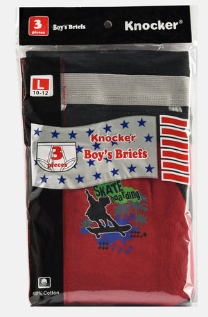 KNOCKER BOY'S COLOR BAND BRIEFS (BC3450P)