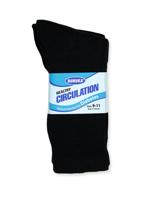 Load image into Gallery viewer, BURUKA CREW DIABETIC SOCKS (BK175D_B/P)