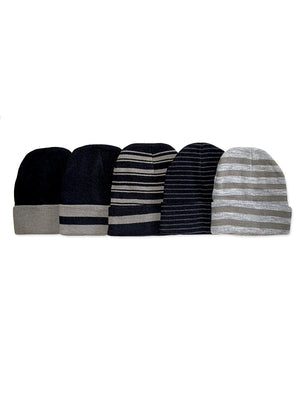 Load image into Gallery viewer, KNOCKER MEN'S ACRYLIC BEANIE (BN002_STRIPE)