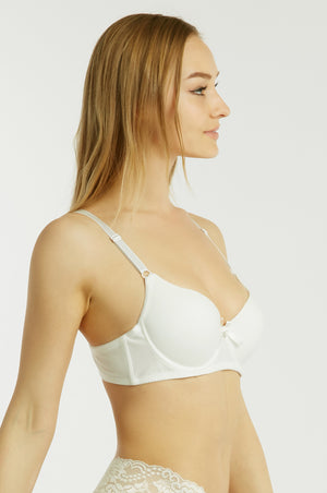 SOFRA LADIES FULL CUP PLAIN COTTON BRA (BR4323P) - BOX ONLY