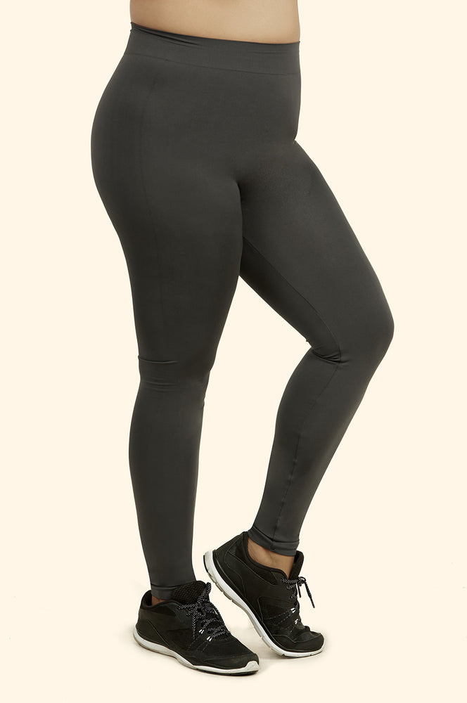 MOPAS LADIES NYLON LEGGINGS PLUS SIZE (EX001X)