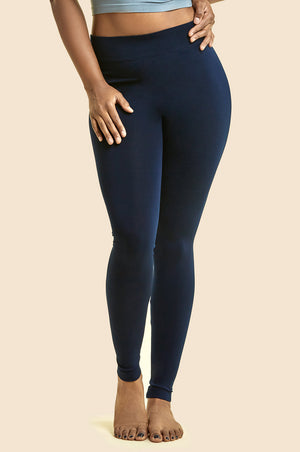 SOFRA LADIES POLYESTER LEGGINGS PLUS SIZE (EX900X)