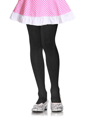 MOPAS GIRL'S PLAIN TIGHTS (GT100_BLACK)