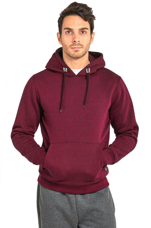 KNOCKER MEN'S HEAVY WEIGHT HOODED SWEATSHIRT (HD1000_BURGUNDY)